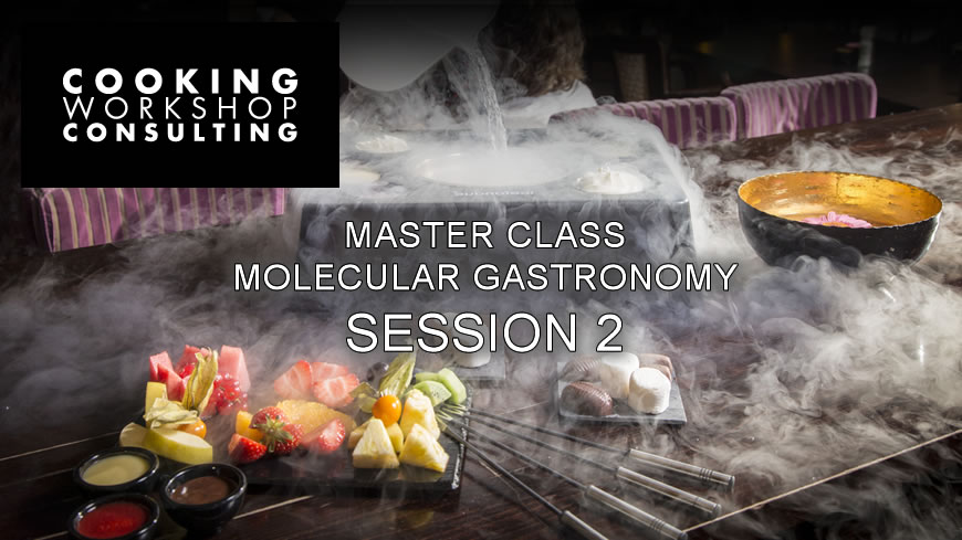 SESSION 2 MASTER CLASS MOLECULAR GASTRONOMY