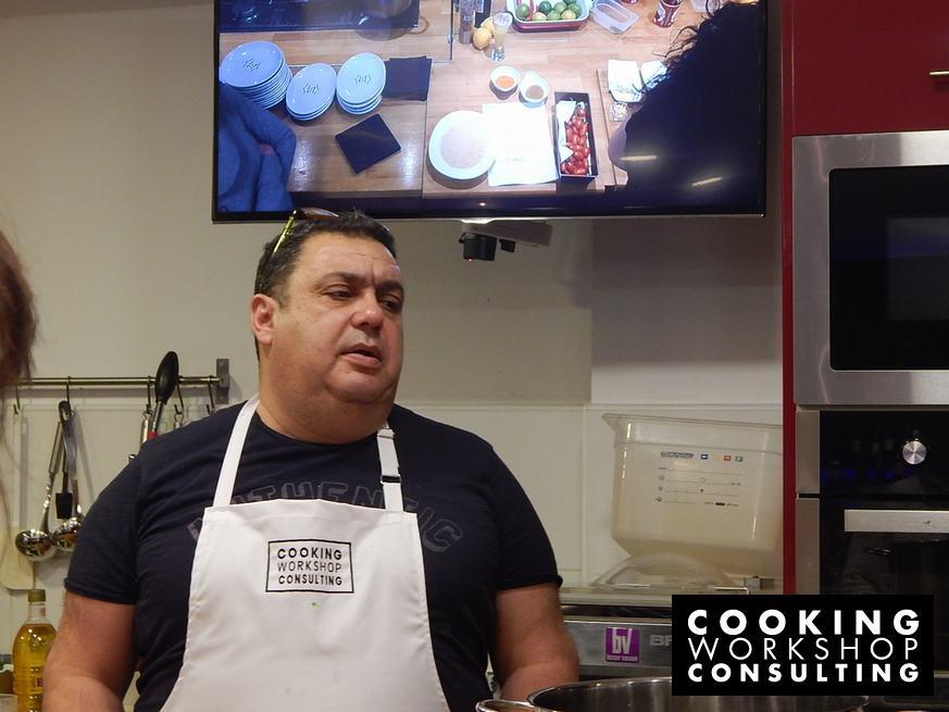 Σεμινάριο μαγειρικής Master class Αιγαιοπελαγίτικη δημιουργική κουζίνα Χριστόφορος Πέσκιας