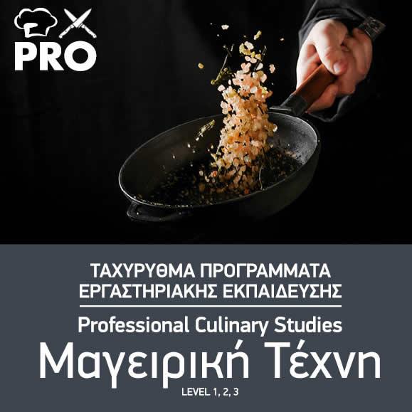 Ταχύρρυθμες Σπουδές Μαγειρικής Τέχνης